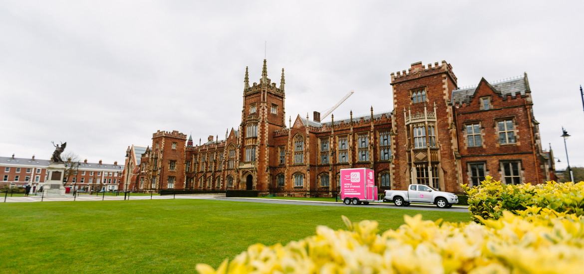 Self Storage delivery to Queens University Lanyon Building