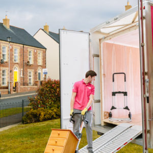 Loading Domestic self storage unit